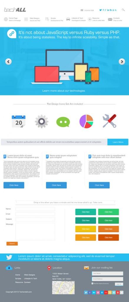 TechAndAll_Clean_Flat_stylish_theme_preview