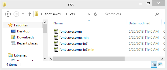 fortawesome - tutorial - folder - CSS