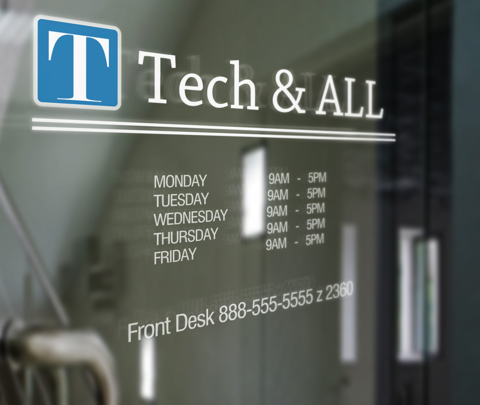 Door Signage Mock Up Tech All