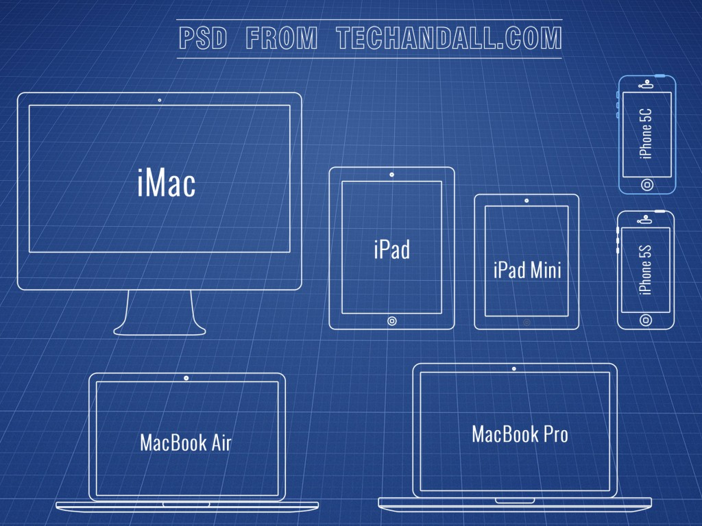 Apple Product Line Wireframe .PSD | Tech & ALL