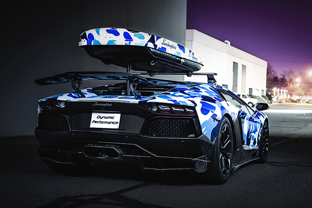 Lamborghini-x-BAPE-Arctic-Camo-Aventador-With-Ski-Box-5