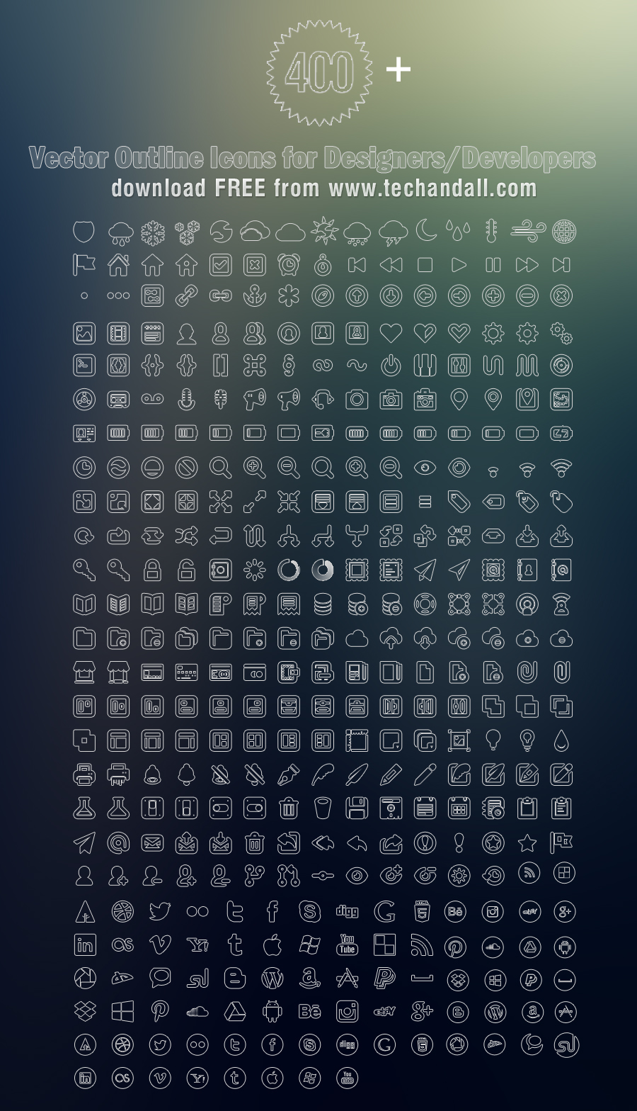 TechAndAll_400_Plus_vector_outline_icons