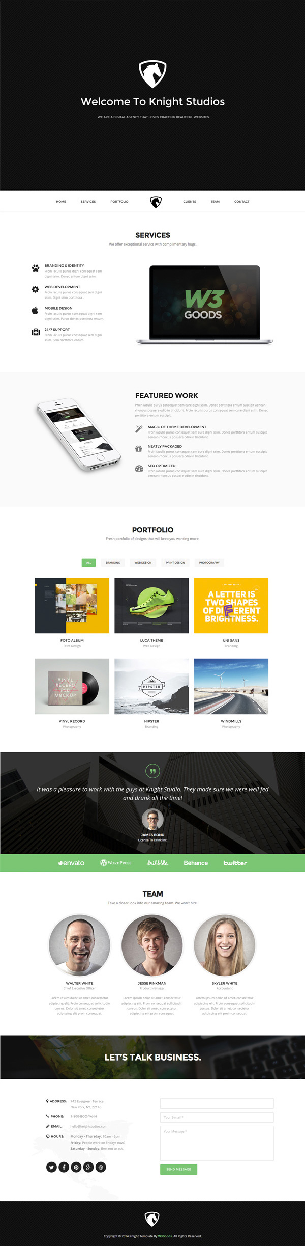 Knight-Free-Bootstrap-Theme-600