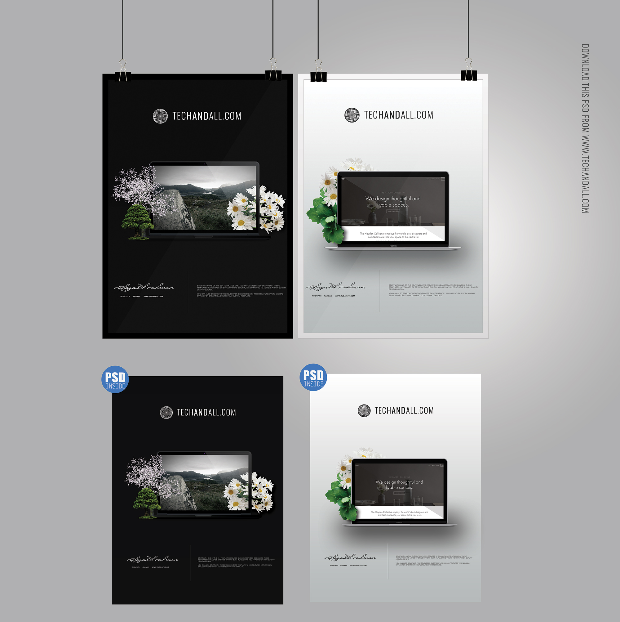 A4 Poster Mockup Amp Frame Mockup Psd Welcome To Tech Amp All