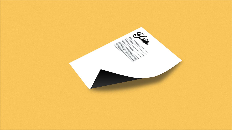 Branding Mockup - V16 Letter